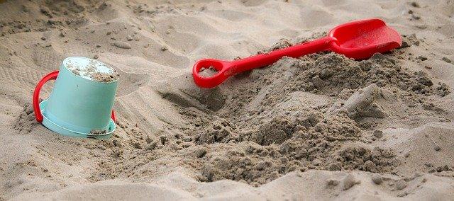 piasku w piaskownicy